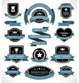 Vintage labels and ribbon retro style set vector | Price: 1 Credit (USD $1)