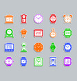 watch patch sticker icons set vector image vector image