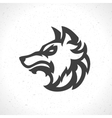Wolf face logo emblem template mascot symbol vector image vector image