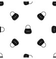 woman bag pattern seamless black vector image
