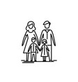 young family mother father and two kids vector image vector image