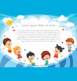 of kids playing outside vector image