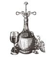 wine logo design template grape or drink vector image