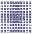 100 data exchange icons set grunge sapphire vector image vector image