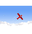 airplane flying over the sky vector image