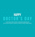 background style of world doctor day vector image vector image