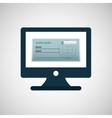 bank check template icon graphic vector image