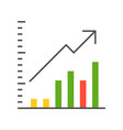 bar chart data report icon concept vector image vector image