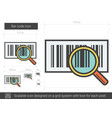 bar code line icon vector image vector image