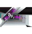 black friday background sale for banner menu vector image vector image
