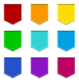 Bright flat banners set vector image vector image