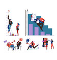 business and growth development and improvement vector image vector image