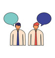 businessmen portrait speech bubble vector image
