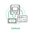 cashout concept icon vector image vector image