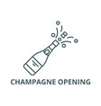 champagne opening line icon champagne vector image vector image