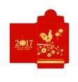 Chinese New Year red envelope flat icon vector image vector image