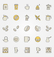 coffee colorful icons set - creative vector image vector image
