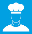 cook icon white vector image vector image