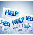 Crowd of help signs vector image vector image