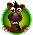 Cute horse head cartoon