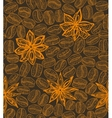 dark coffee background with star anise vector image vector image