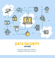 data security signs concept banner card vector image vector image