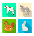 design of breeding and kitchen logo set of vector image vector image