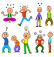 doodle characters vector image vector image