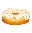 Doughnut with cream frosting vector image vector image