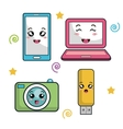 electronic devices characters icon vector image