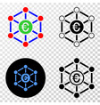 euro network eps icon with contour version vector image vector image