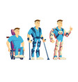 exoskeletons for disabled people cartoon vector image