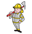 Fireman Firefighter Emergency Worker vector image vector image