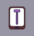 flat icon design collection screw sign vector image vector image