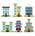 flat set of houses isolated on whute background vector image vector image