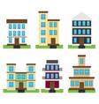 Flat set of houses isolated on whute background