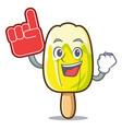foam finger lemon ice cream mascot cartoon vector image vector image