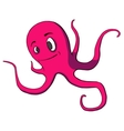 Funny cartoon octopus on white vector image vector image