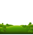 green landscape isolated white background vector image