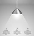 hanging lamp vector image