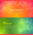 happy holidays best fireworks salute elements vector image vector image