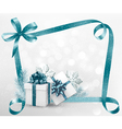 Holiday background with gift ribbon with gift box vector image vector image