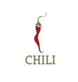 hot chili pepper design template vector image vector image