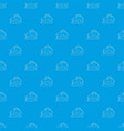 house pattern seamless blue vector image vector image
