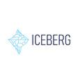 iceberg mount logo icon vector image vector image