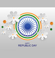 india happy republic day greeting card paper vector image