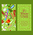 it s winter time set of banners vector image vector image