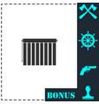 jalousie icon flat vector image