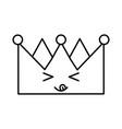 king crown kawaii character vector image