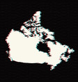 map canada isolated black on vector image vector image